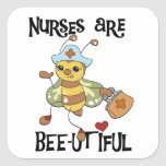 Nurses Are Bee-utiful T-shirts and Gifts Square Sticker