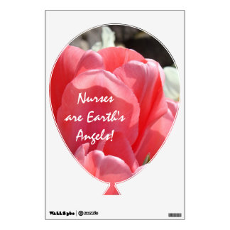 Nurses are Earth s Angels wall decals Balloons