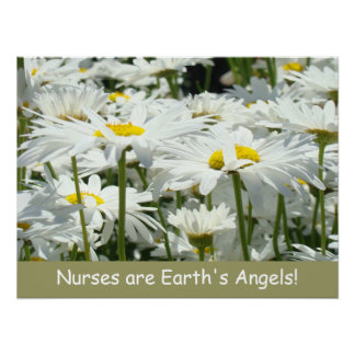 Nurses are Earth's Angels! poster art prints Daisy