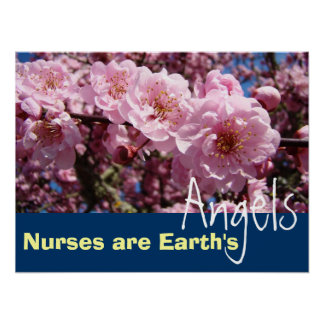 Nurses are Earth's Angels poster Nursing prints