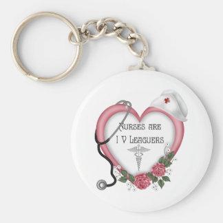 Nurses Are IV Leaguers Keychain