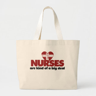 Nurses are kind of a big deal tote bags