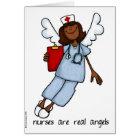 nurses are real angels card