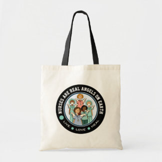 Nurses are Real Angels. Gift Nurse Tote Bags