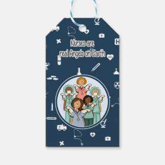 Nurses are real Angels on Earth. Custom Gift Tags