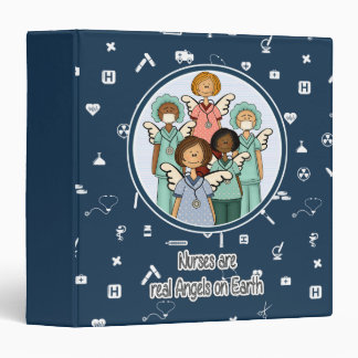 Nurses are real Angels on Earth. Gift Gift Binder