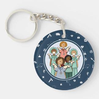 Nurses are Real Angels on Earth. Keychains