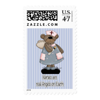 Nurses are real Angels on Earth.Postage Stamps