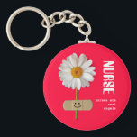 "Nurses are Real Angels. Smiling Daisy Keychain<br><div class=""desc"">Nurses are Real Angels. Nurses Day / Nurses Week / Nursing School Graduation / Nurse&#39;s Birthday / Any occasion Gift Keychain for a special Nurse . Matching cards,  postage stamps and other products available in the Business Related Holidays / Nurses Day Category of our store.</div>"