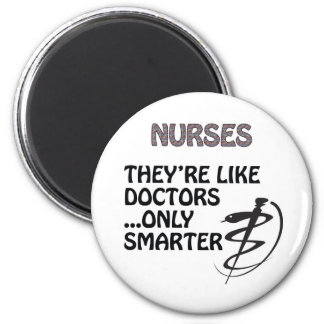 NURSES  ARE SMARTER THAN DOCTORS MAGNETS