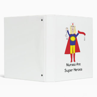 Nurses Are Super Heroes (Blonde) Avery Binder