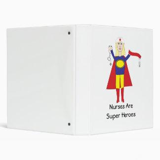 Nurses Are Super Heroes (Blonde) Avery Binder