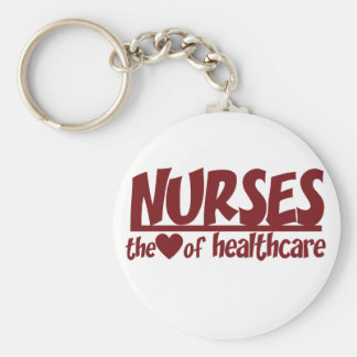 Nurses are the Heart of Healthcare Basic Round Button Keychain