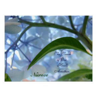 Nurses Art Prints Touch of One Heals Another Print