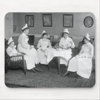 Nurses at Tea, early 1900s Mouse Pad