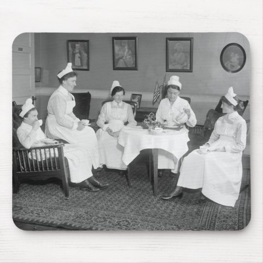 Nurses at Tea, early 1900s Mouse Pad