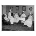 Nurses At Tea, early 1900s Poster