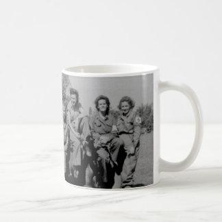 Nurses Beside Jeep WWII Coffee Mug