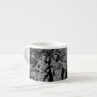 Nurses Beside Jeep WWII Espresso Cup