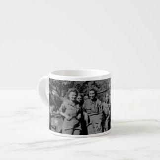 Nurses Beside Jeep WWII Espresso Cup