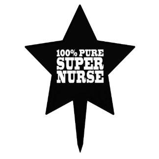 Nurses Birthday Parties : 100% Pure Super Nurse Cake Toppers