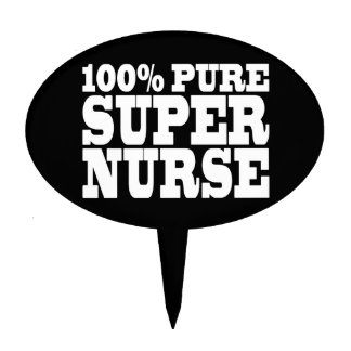 Nurses Birthday Parties : 100% Pure Super Nurse Oval Cake Picks