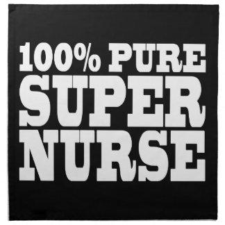 Nurses Birthday Parties : 100% Pure Super Nurse Printed Napkin