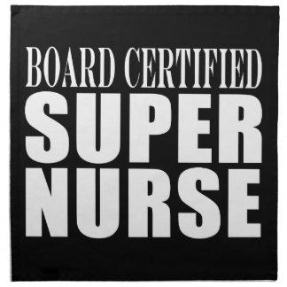 Nurses Birthday Party  Board Certified Super Nurse Printed Napkin