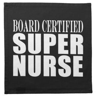 Nurses Birthday Party  Board Certified Super Nurse Printed Napkins