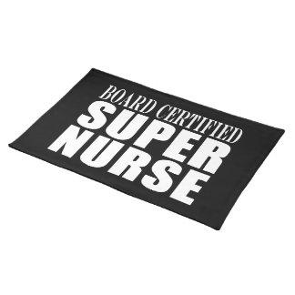 Nurses Birthday Party  Board Certified Super Nurse Placemats
