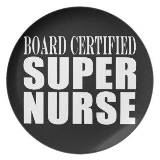 Nurses Birthday Party  Board Certified Super Nurse Dinner Plate