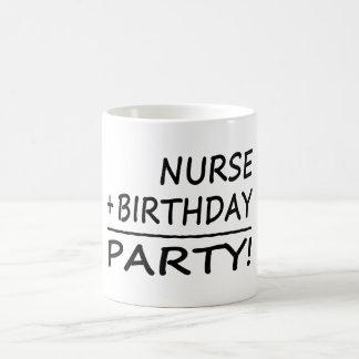 Nurses Birthdays : Nurse + Birthday = Party Coffee Mug