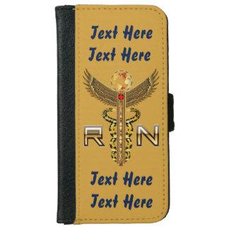 "Nurses Caduceus RN  Click ""More"" to edit text iPhone 6/6s Wallet Case"