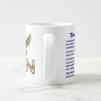 Nurses Caduceus RN Pledge Jumbo Read About Design Jumbo Mug