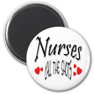 Nurses call the shots 2 inch round magnet