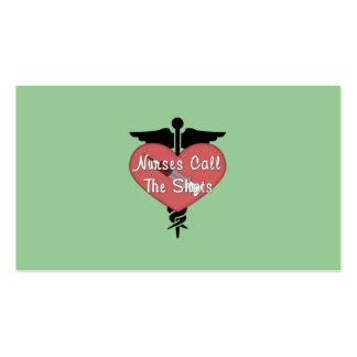 Nurses Call The Shots Business Card Template
