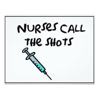 Nurses call the shots card