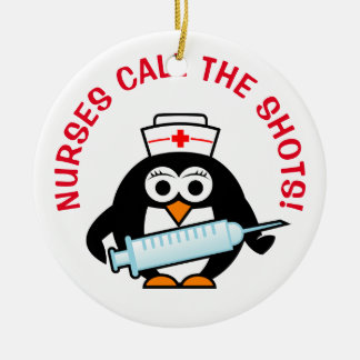 Nurses call the shots Christmas tree ornament