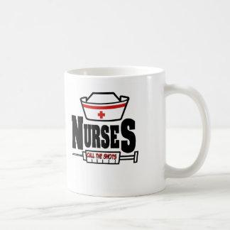 Nurses Call The Shots Coffee Mug