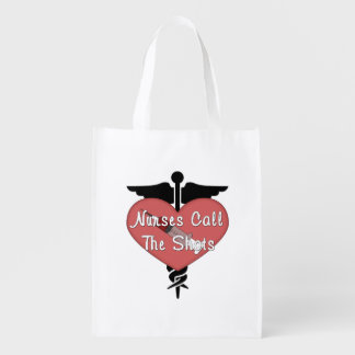 Nurses Call The Shots Grocery Bags
