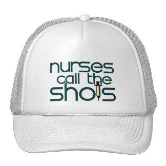 Nurses Call The Shots Mesh Hats