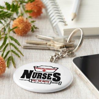 Nurse Cap Call The Shots Key Chain