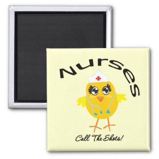 Nurses Call The Shots 2 Inch Square Magnet