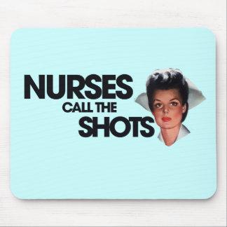 Nurses call the shots mouse pad