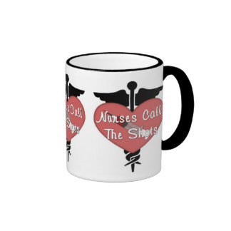 Nurses Call The Shots Ringer Coffee Mug
