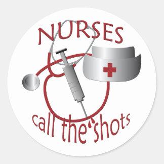 Nurses Call the Shots Nurse Sticker