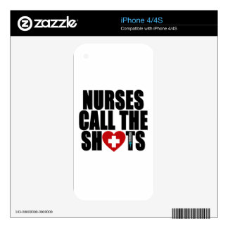 nurses call the shots.png iPhone 4S decals