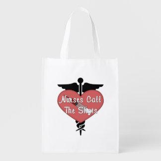 Nurses Call The Shots Reusable Grocery Bag