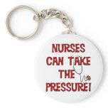 Nurses Can Take the Pressure Keychain