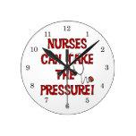Nurses Can Take the Pressure Wallclocks